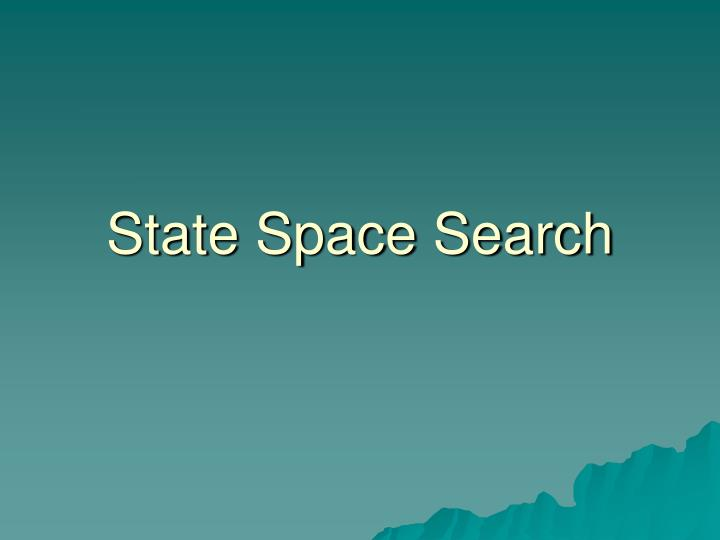state space search n.