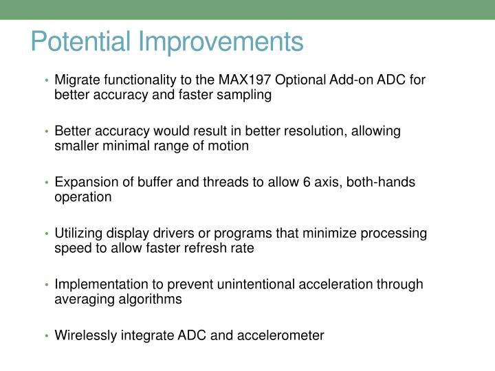 Potential Improvements