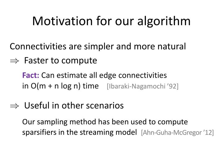 Motivation for our algorithm