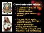 oktoberfest d wiesn