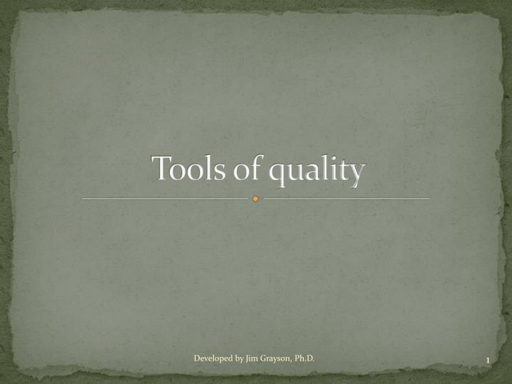 tools of quality n.