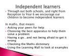 independent learners