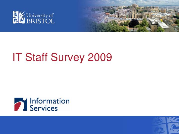 it staff survey 2009 n.