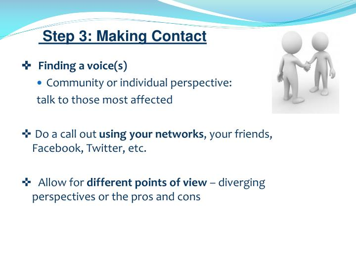 Step 3: Making Contact