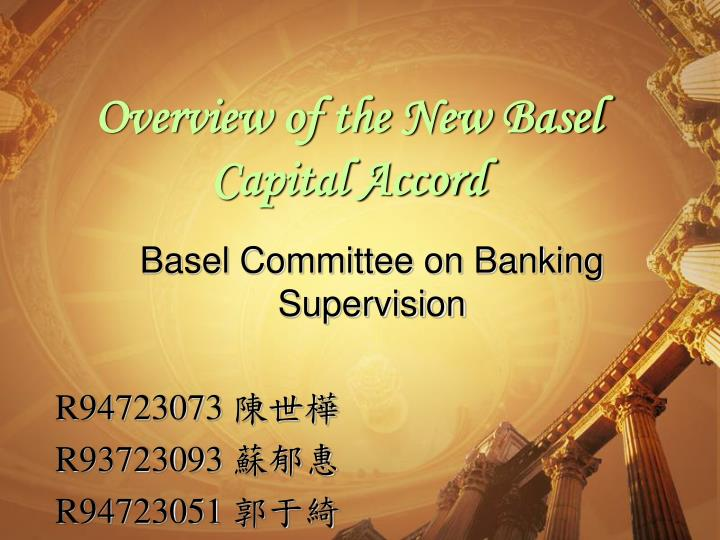 overview of the new basel capital accord n.