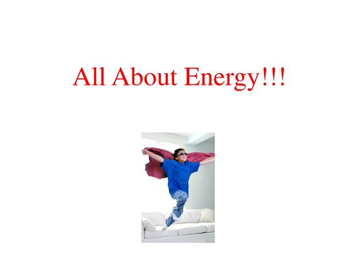 all about energy n.