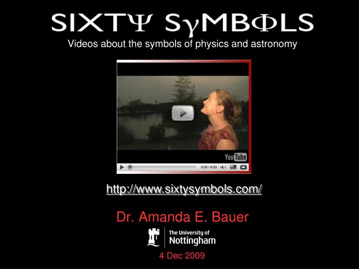 videos about the symbols of physics and astronomy n.
