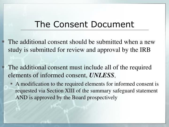 The Consent Document