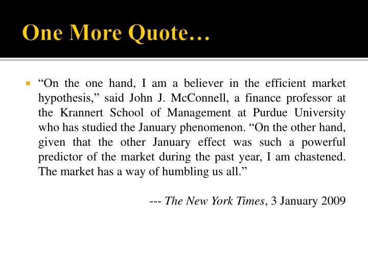 One More Quote…