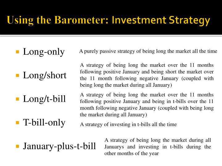 Using the Barometer: