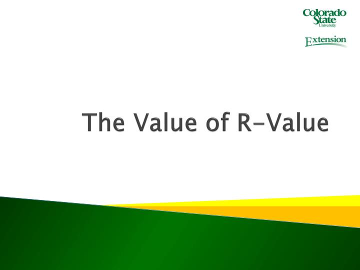 the value of r value n.