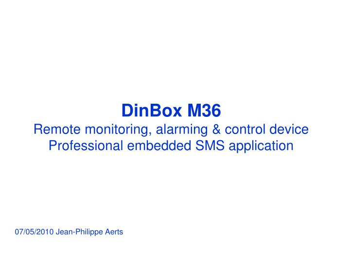 dinbox m36 remote monitoring alarming control device professional embedded sms application n.