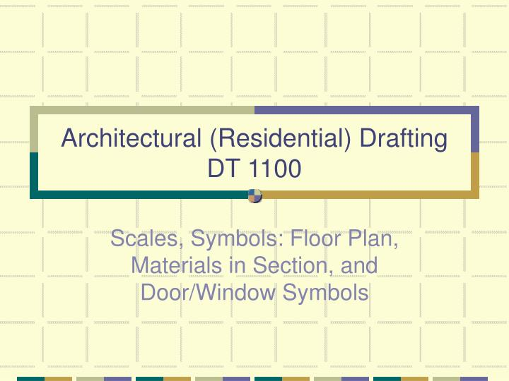 architectural residential drafting dt 1100 n.