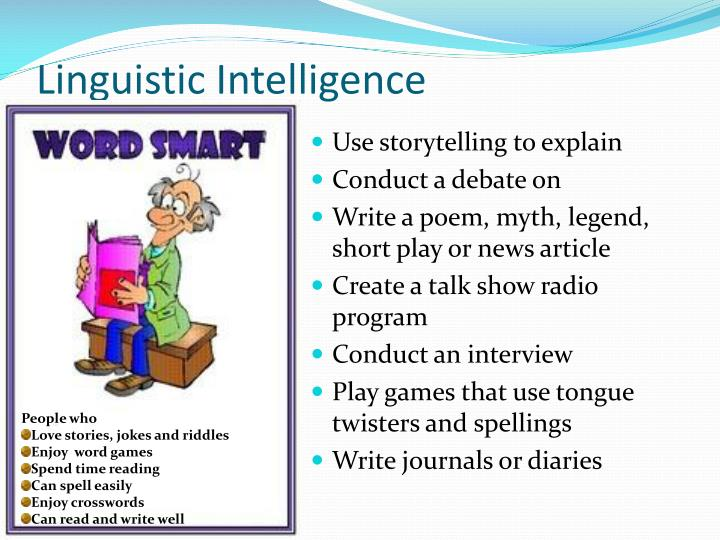 people with linguistic intelligence