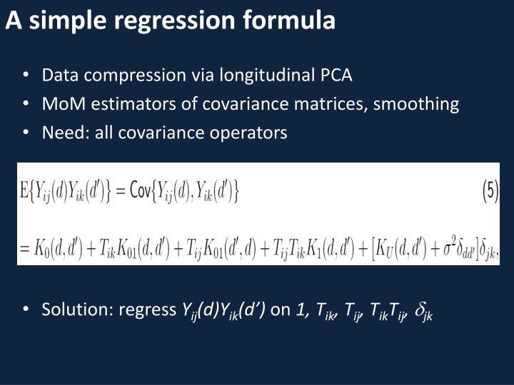 A simple regression formula