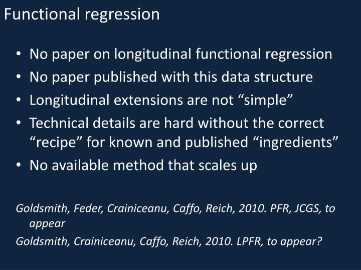 Functional regression