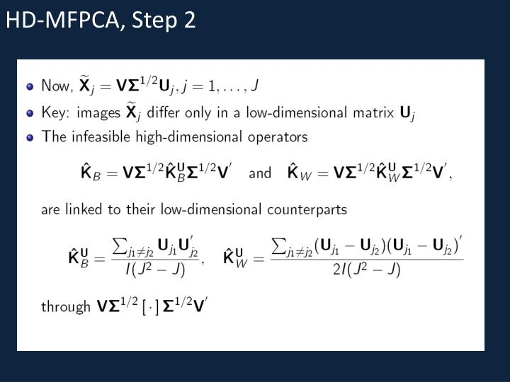 HD-MFPCA, Step 2