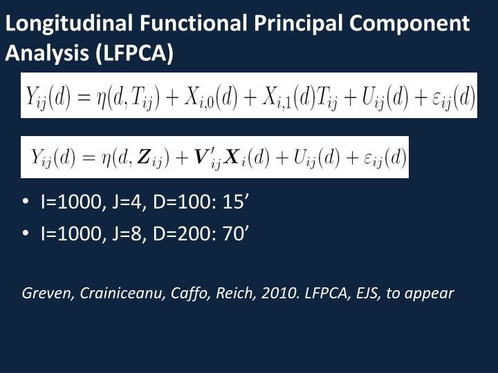 Longitudinal Functional Principal Component Analysis (LFPCA)