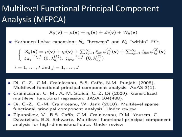 Multilevel Functional Principal Component Analysis (MFPCA)