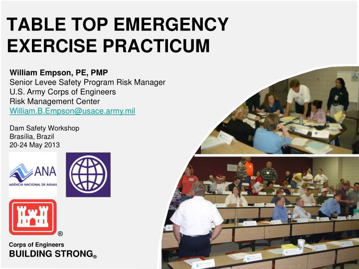 table top emergency exercise practicum n.