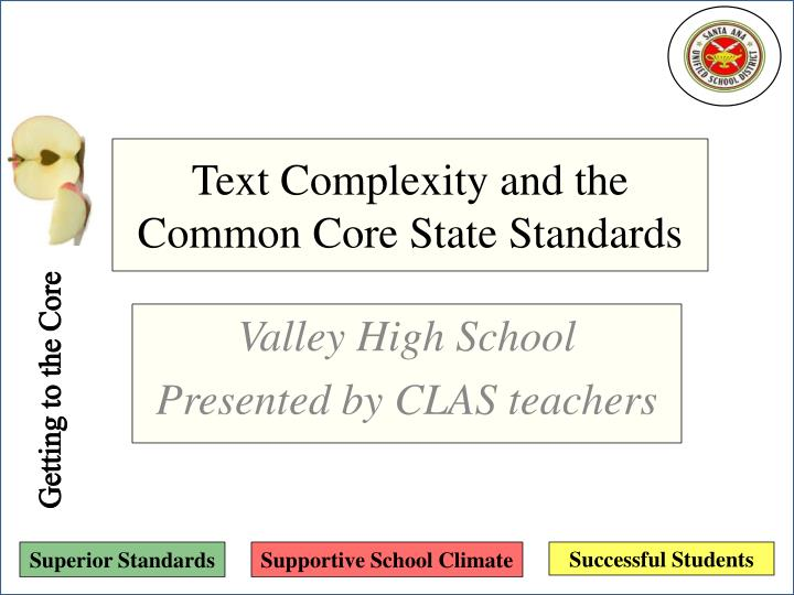 text complexity and the common core state standards n.