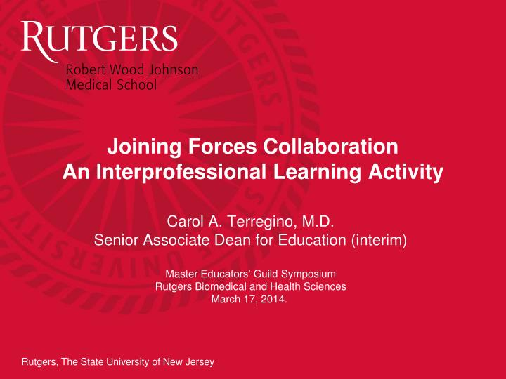 joining forces collaboration an interprofessional learning activity n.