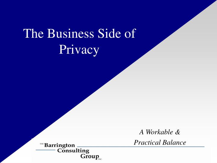 the business side of privacy n.