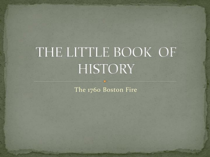 the little book of history n.