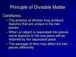 principle of divisible matter1