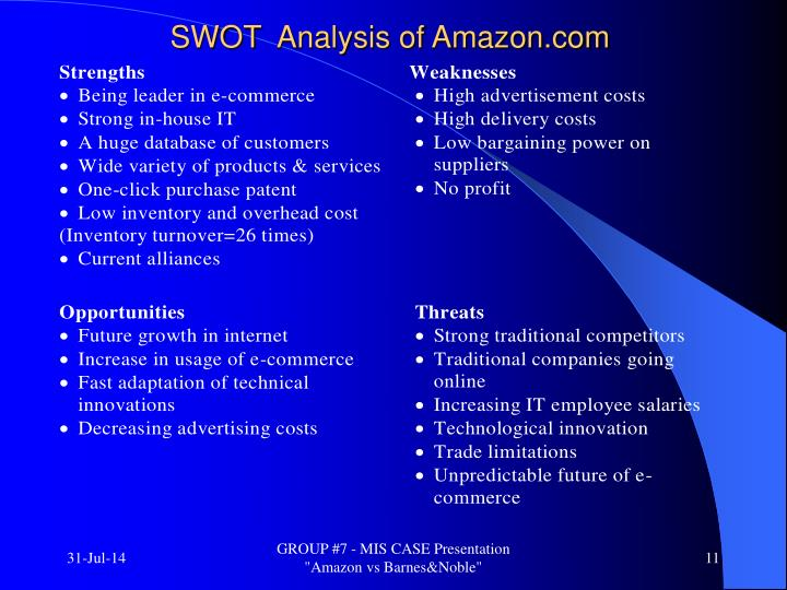 analysis of amazon com Introduction amazon is the world's largest online retailer and is indeed a pioneer in the online retailing space though it started as an online bookstore, its success in its venture spurred it to diversify into selling anything that can be sold online.