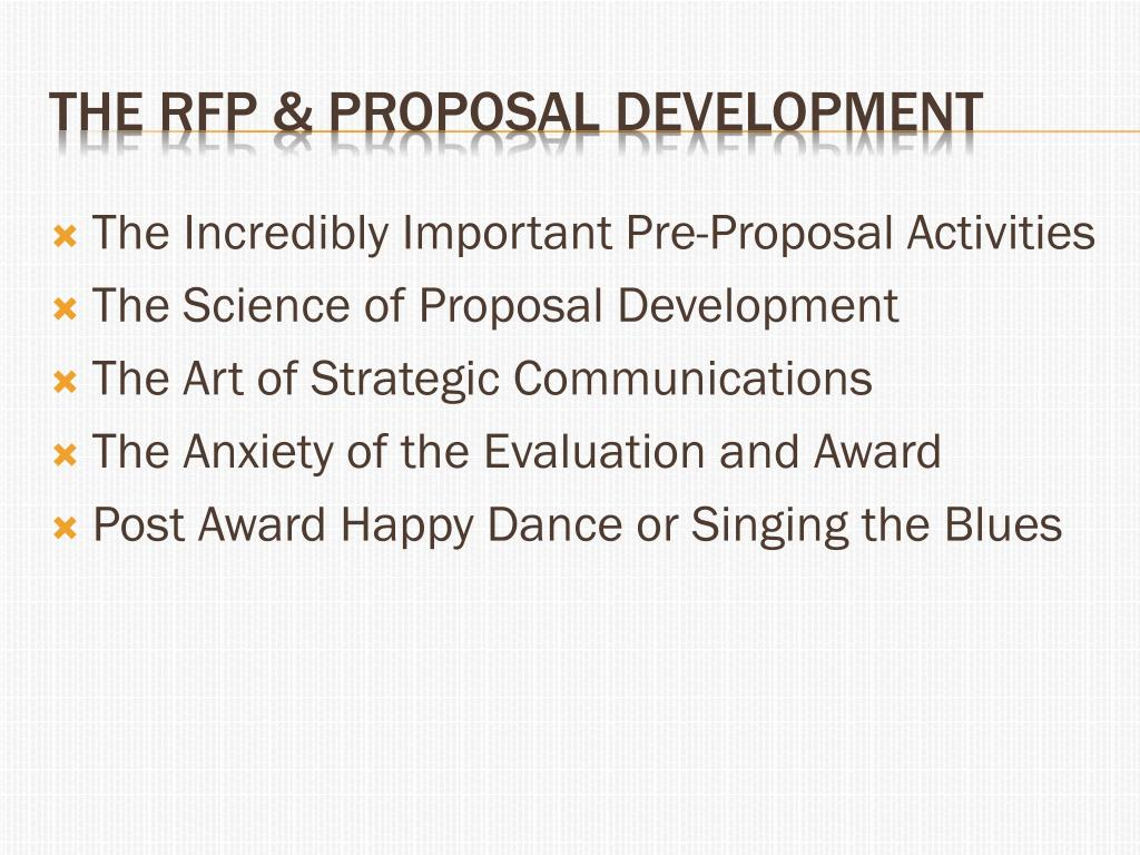 PPT - THE RFP & Proposal Development PowerPoint Presentation - ID