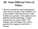 iii some different views of ethics1
