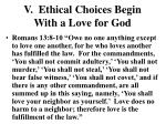 v ethical choices begin with a love for god3