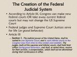 the creation of the federal judicial system