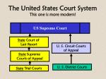 the united states court system this one is more modern