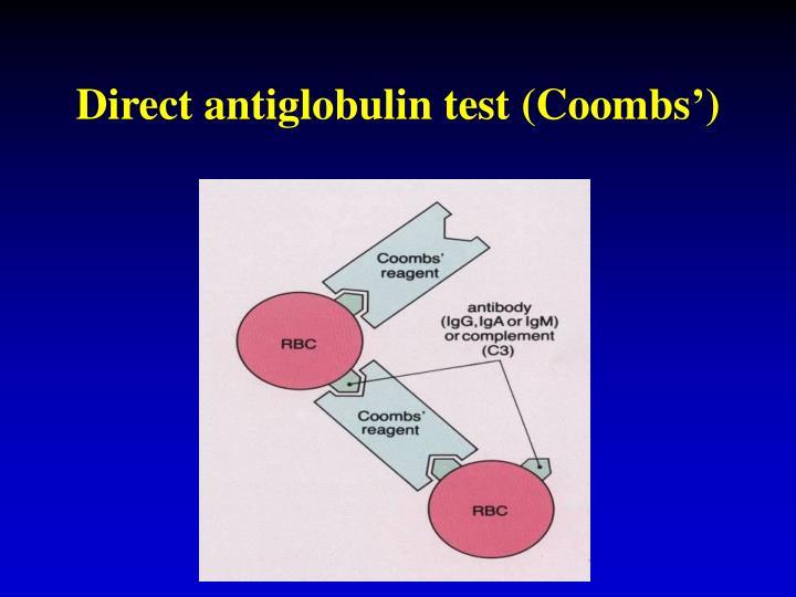 Direct antiglobulin test (Coombs')
