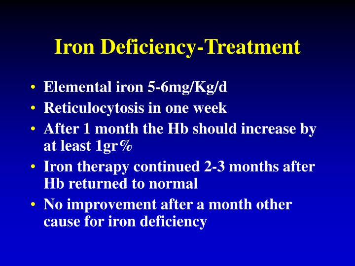 Iron Deficiency-Treatment