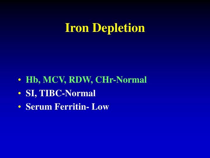 Iron Depletion