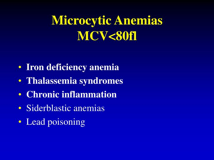 Microcytic Anemias