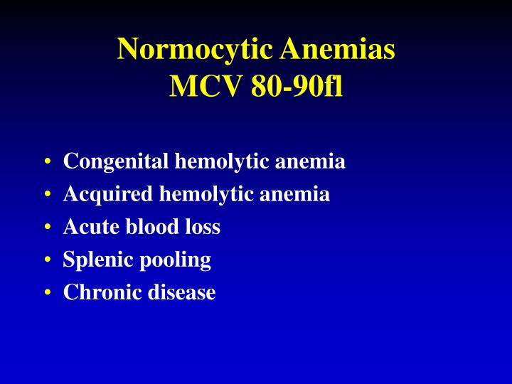 Normocytic Anemias