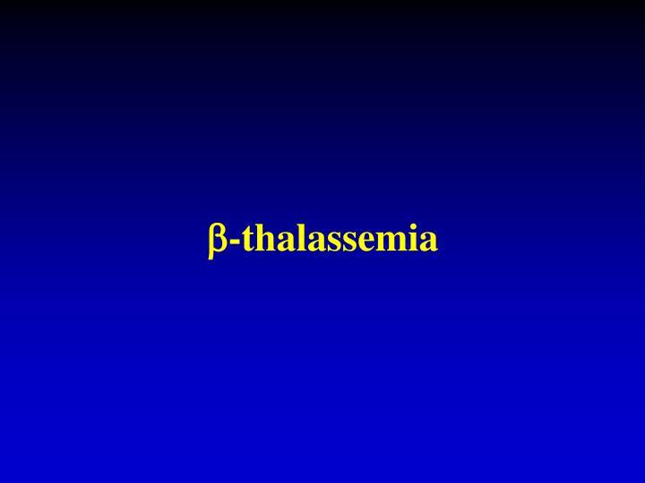 -thalassemia
