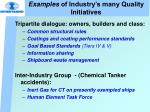 examples of industry s many quality initiatives