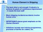 human element in shipping
