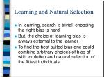 learning and natural selection
