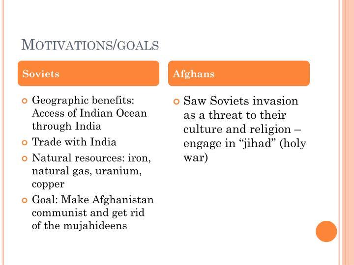 Motivations/goals