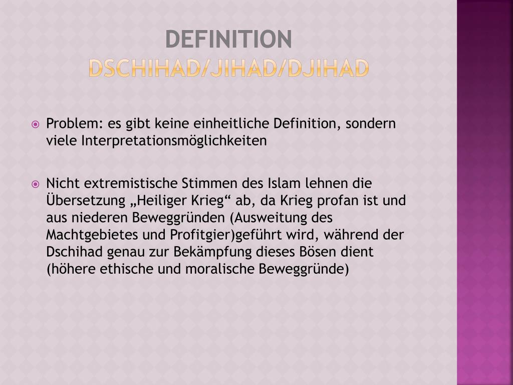 Dschihad Definition