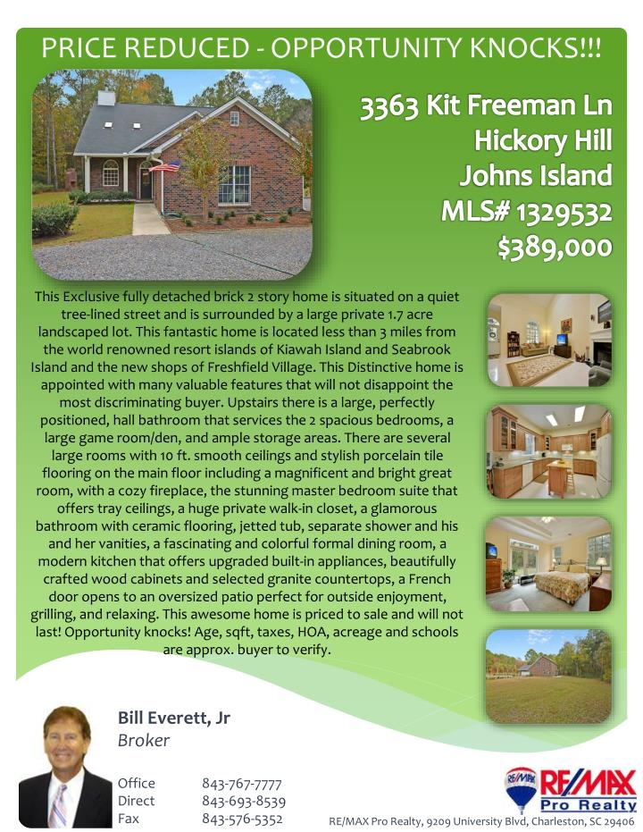 price reduced opportunity knocks n.