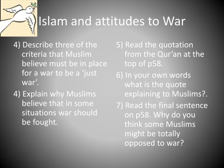 Islam and attitudes to war1