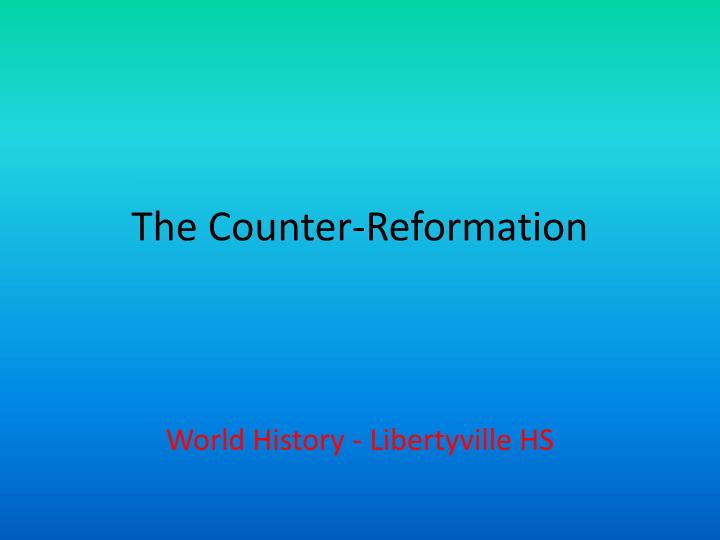 the counter reformation n.
