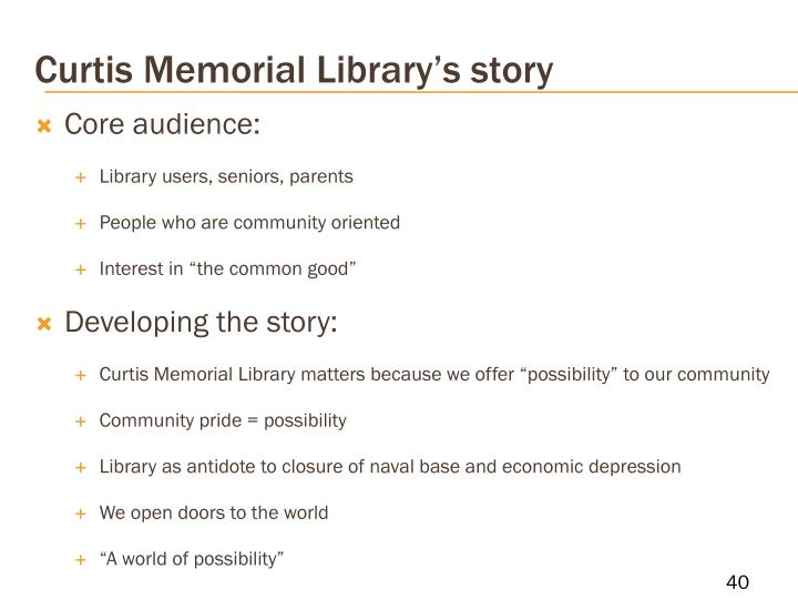 Curtis Memorial Library's story